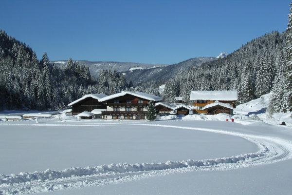Winklhütte im Winter