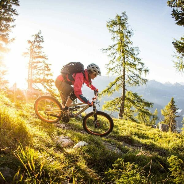 Mountainbiker Downhill